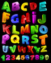 Full alphabet with numerals Royalty Free Stock Photo