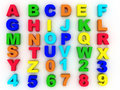 Full alphabet numerals Stock Photo