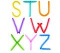 Full balloon alphabet Stock Image