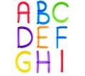 Full balloon alphabet Royalty Free Stock Image