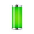 Full battery indicator vector illustration Stock Photos