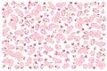 Full bloom pink sakura tree Cherry blossom isolated on white, flower backdrop