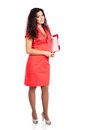 Full body nurse or woman doctor with clipboard Royalty Free Stock Photo