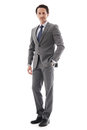 Full body portrait of business man Royalty Free Stock Photo