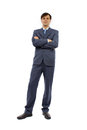 Full body portrait of businessman Stock Photo