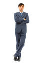 Full body portrait of businessman Stock Photos