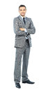 Full body portrait of happy smiling business Stock Images