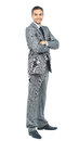 Full body portrait of happy smiling business Royalty Free Stock Photography