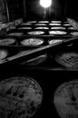 Full of bourbon at woodford reserve tons in the distillery Stock Images