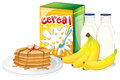 Full breakfast meal illustration of a on a white background Stock Image