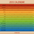 Full color 2013 calendar Royalty Free Stock Photo