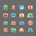 Full color device symbol icon set vector illustration Royalty Free Stock Photos