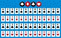 Full deck of cards Royalty Free Stock Photo