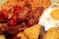 Full English breakfast. Royalty Free Stock Photo