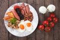 Full english breakfast Royalty Free Stock Photo