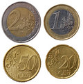 Full euro coins set - part 1 Royalty Free Stock Photo