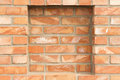 Full frame background brick red wall recess Stock Photos