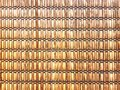 Full Frame Background of Woven Bamboo Strips Royalty Free Stock Photo