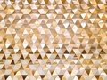Background of Golden Triangles Decorative Wall