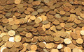 Full frame background with mixed coins Royalty Free Stock Photo