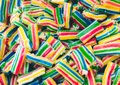 Full frame closeup of multi-colored candy chews Royalty Free Stock Photo