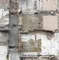 Full frame demolition wall detail Royalty Free Stock Photography
