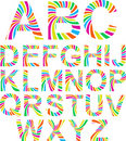 Full funny rainbow alphabet. Royalty Free Stock Photography