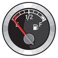 Full gas tank vector illustration of the Royalty Free Stock Photography
