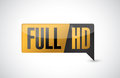 Full hd high definition button illustration design Stock Photos
