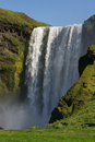 Full height view of Skogafoss waterfall, South Iceland Stock Photography