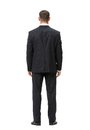 Full length backview of businessman portrait isolated on white concept leadership and success Royalty Free Stock Photos