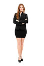 Full length business woman against white background businesswoman isolated on Royalty Free Stock Photo