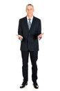 Full length businessman with welcome gesture Royalty Free Stock Photo