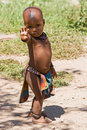 Full length of cute Himba boy Royalty Free Stock Photos