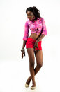 African American fashion model woman Royalty Free Stock Photo