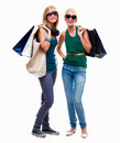 Full length of happy young friends standing with s Royalty Free Stock Image