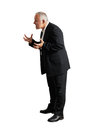 Full length photo of angry businessman over white background Royalty Free Stock Photography