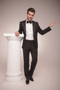 Full length picture of a handsome elegant business man Royalty Free Stock Photo