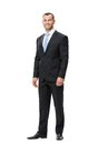 Full length portrait of business man isolated on white concept leadership and success Stock Image
