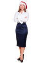 Full length portrait of business woman Royalty Free Stock Photos