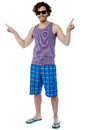 Full length portrait of cool young guy studio shot a man posing casually Royalty Free Stock Photography