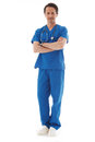 Full length portrait of doctor Royalty Free Stock Photo