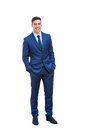 Full length portrait of handsome businessman. Royalty Free Stock Photo