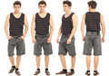 Full length portrait of handsome man in shorts isolated Royalty Free Stock Photo