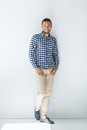 Full length portrait of handsome stylish man in casual clothes Royalty Free Stock Photo