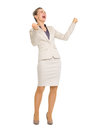 Full length portrait of happy rejoicing success Royalty Free Stock Photo