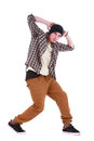 Full length portrait of hip hop male dancer Royalty Free Stock Photo