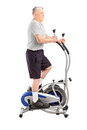 Full length portrait of a mature sporty man exercising  on a cro Royalty Free Stock Photography