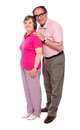 Full length portrait of matured love couple Royalty Free Stock Images