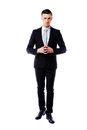 Full length portrait of a professional on white background Stock Photography